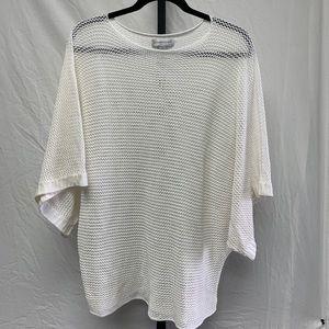 Christopher & Banks XL white short sleeve sweater